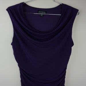 Enfocus Studio Purple Cow Neck Sleeve Less Dress